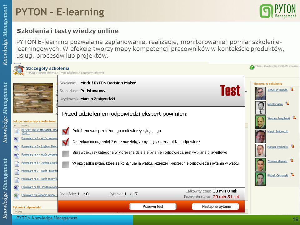 PYTON – E-learning Szkolenia i testy wiedzy online