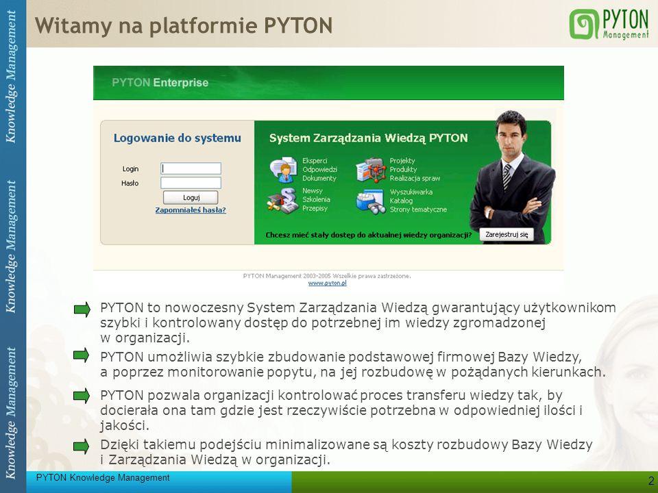 Witamy na platformie PYTON