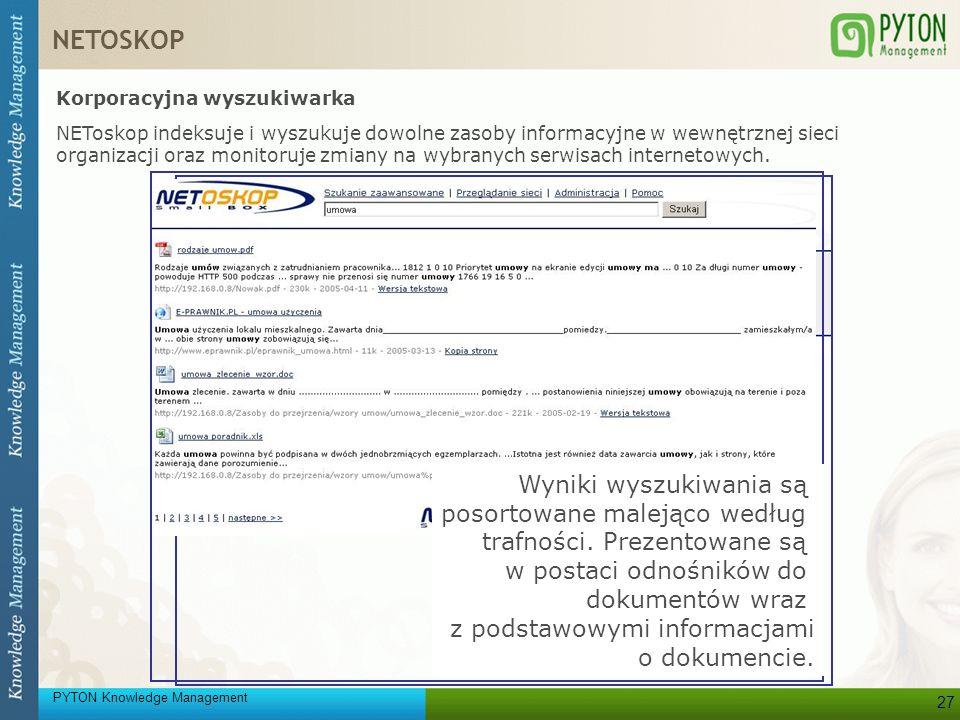 NETOSKOP Korporacyjna wyszukiwarka.