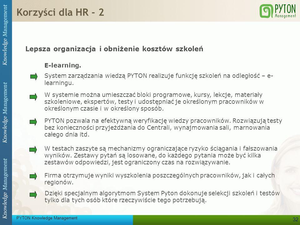 Korzyści dla HR - 2 Lepsza organizacja i obniżenie kosztów szkoleń