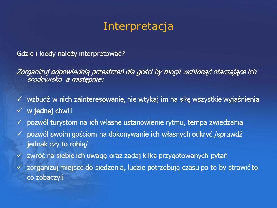 Interpretacja Gdzie i kiedy należy interpretować