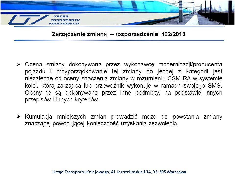 Zarządzanie zmianą – rozporządzenie 402/2013