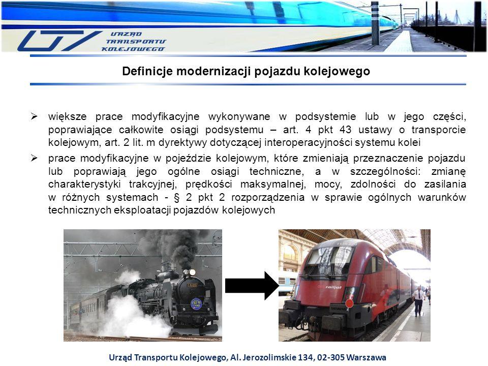 Definicje modernizacji pojazdu kolejowego