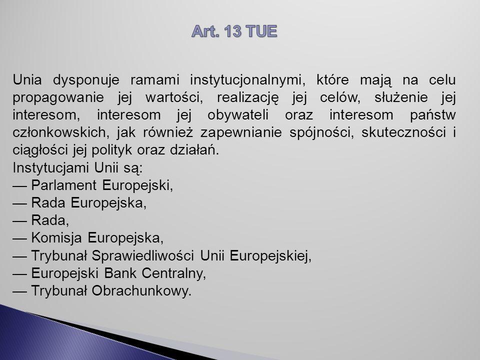 Art. 13 TUE