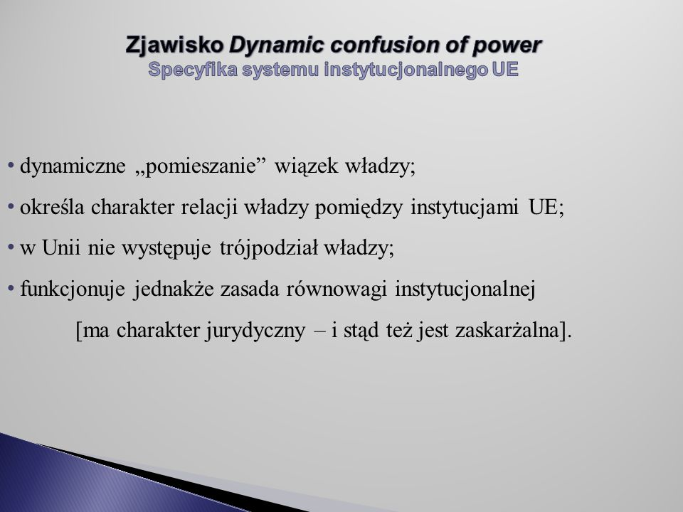 Zjawisko Dynamic confusion of power