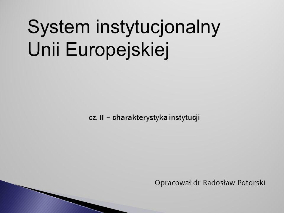 cz. II – charakterystyka instytucji