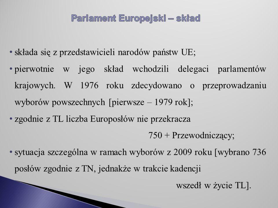 Parlament Europejski – skład