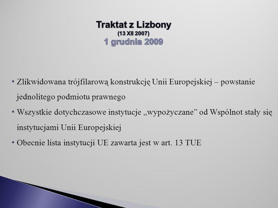 Traktat z Lizbony 1 grudnia 2009