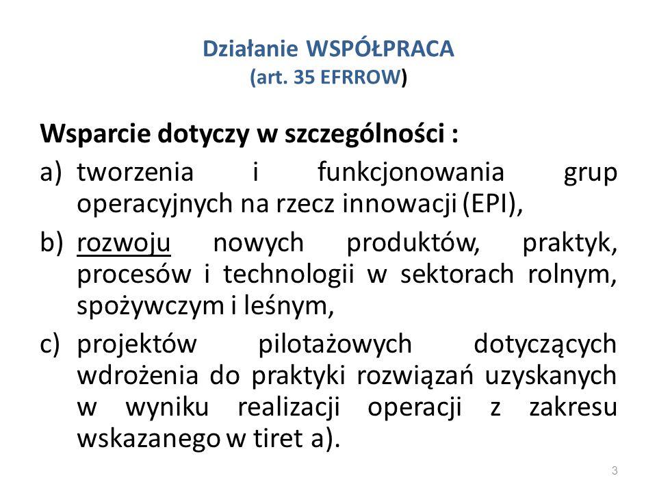 Działanie WSPÓŁPRACA (art. 35 EFRROW)
