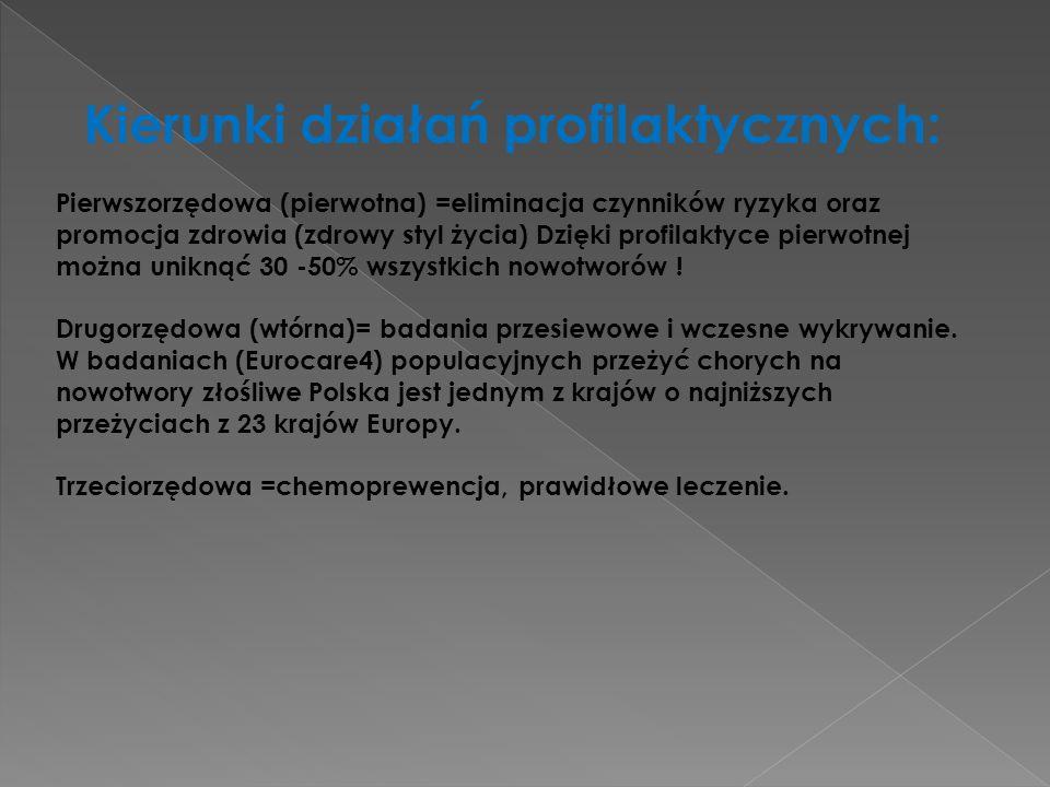 Kierunki działań profilaktycznych: