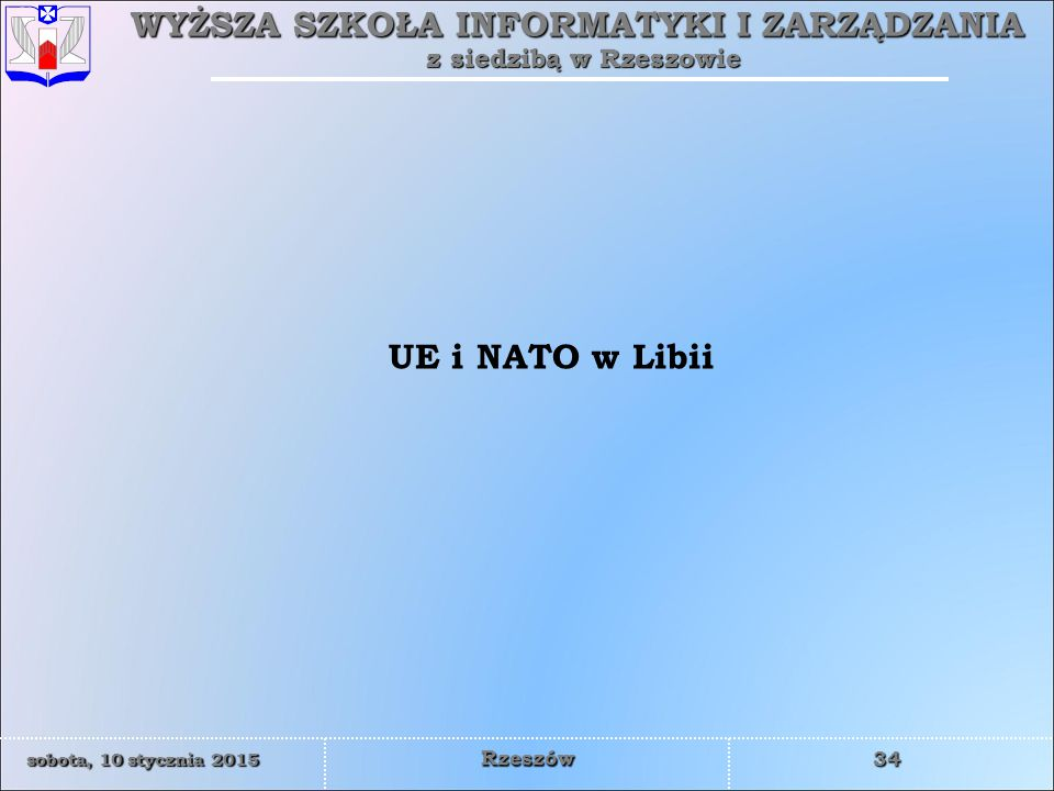 UE i NATO w Libii