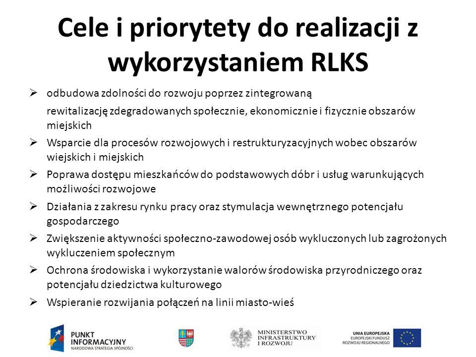 Cele i priorytety do realizacji z wykorzystaniem RLKS