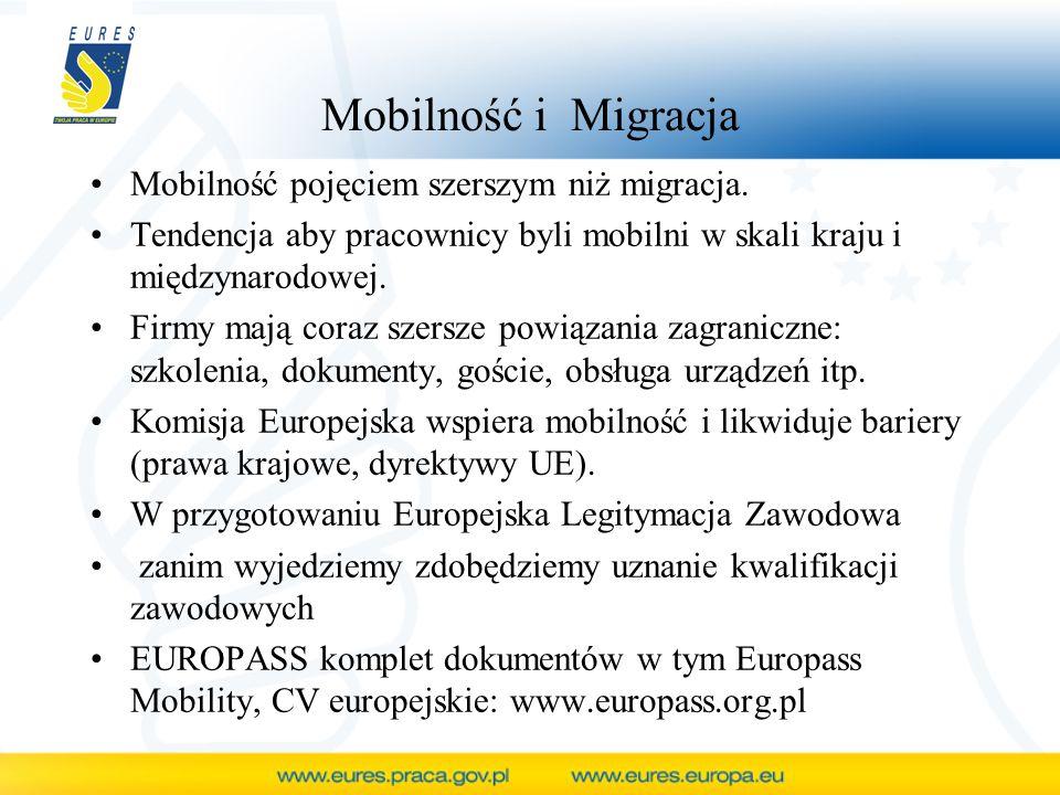 Mobilność i Migracja Mobilność pojęciem szerszym niż migracja.