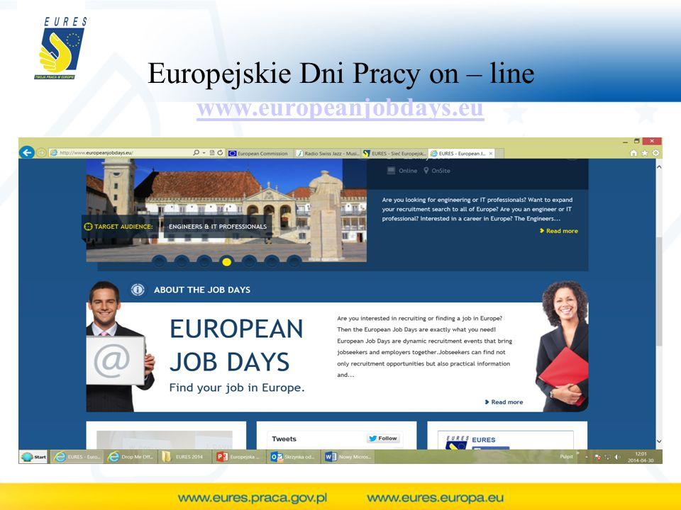 Europejskie Dni Pracy on – line www.europeanjobdays.eu