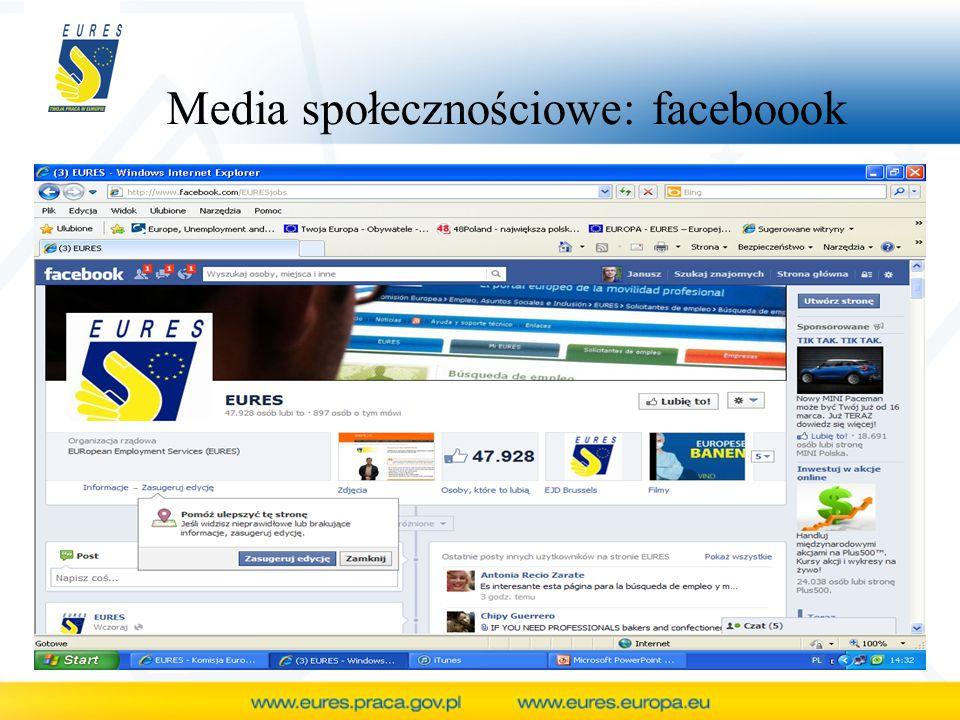 Media społecznościowe: faceboook
