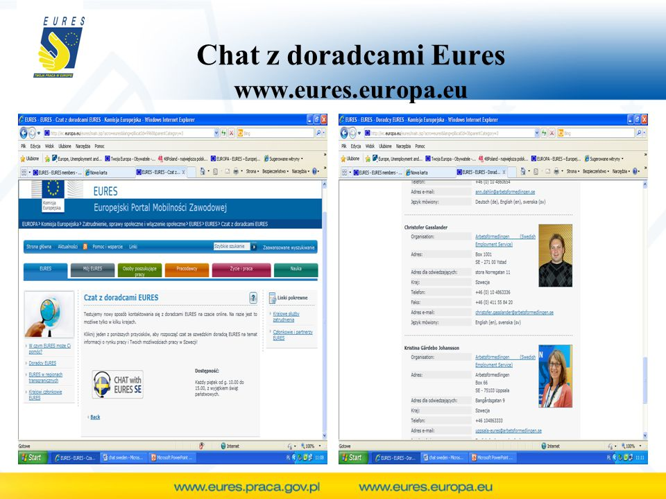 Chat z doradcami Eures www.eures.europa.eu