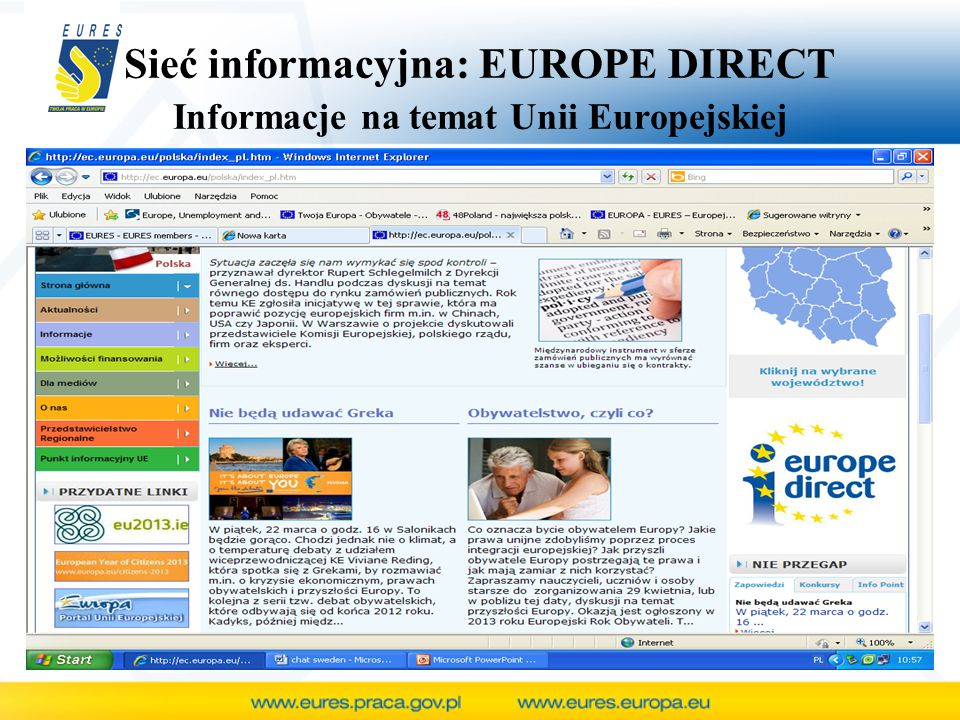 Sieć informacyjna: EUROPE DIRECT Informacje na temat Unii Europejskiej