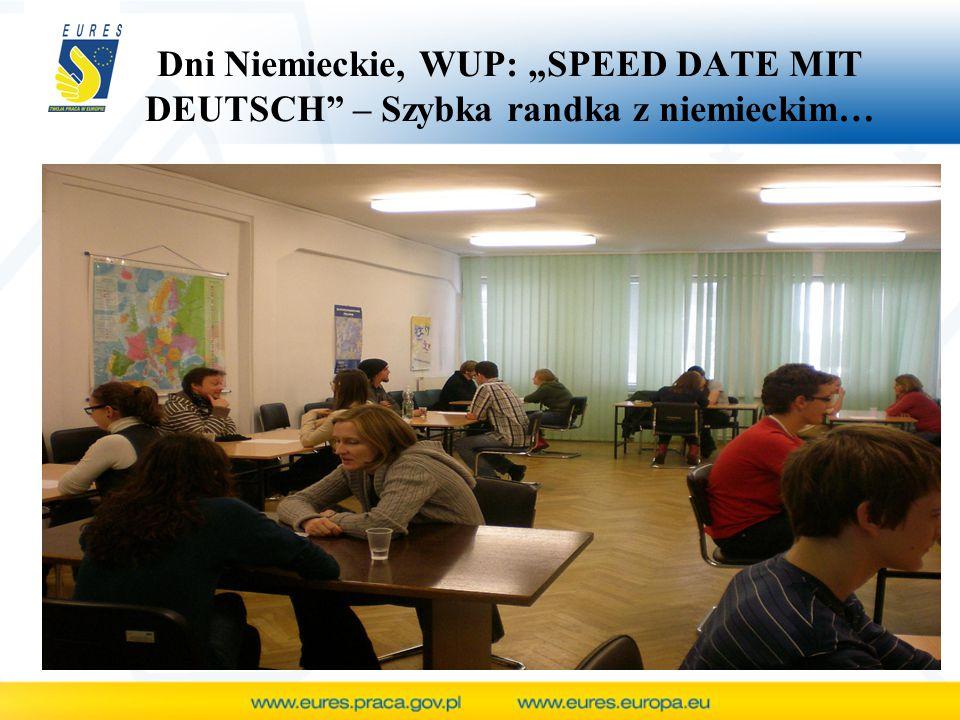 "Dni Niemieckie, WUP: ""SPEED DATE MIT DEUTSCH – Szybka randka z niemieckim…"