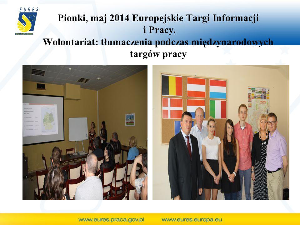 Pionki, maj 2014 Europejskie Targi Informacji i Pracy