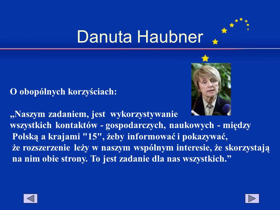 Danuta Haubner O obopólnych korzyściach: