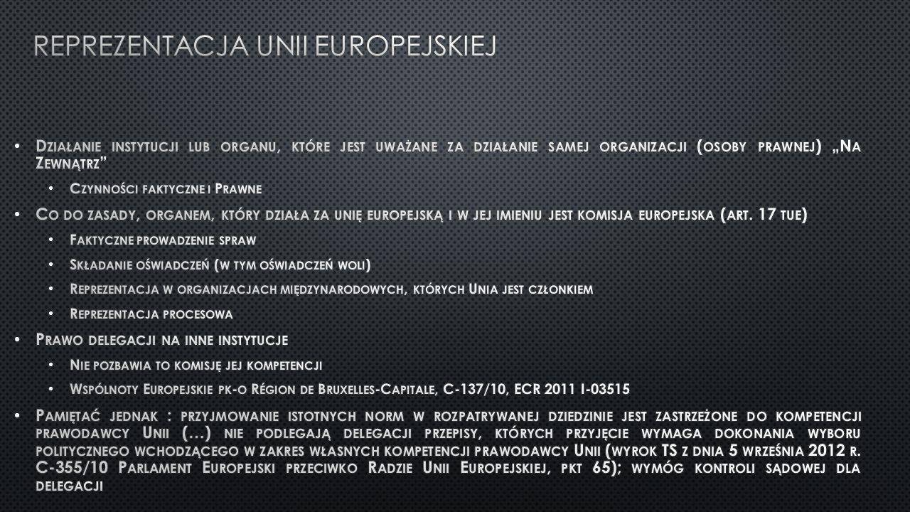 Reprezentacja unii Europejskiej