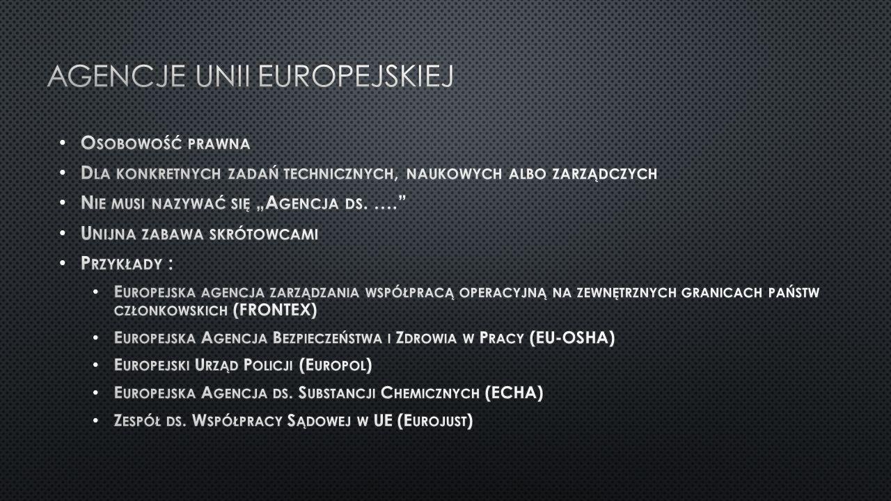 Agencje unii europejskiej