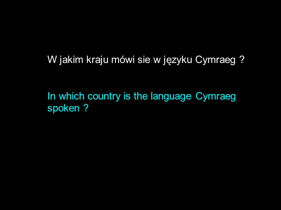 W jakim kraju mówi sie w języku Cymraeg