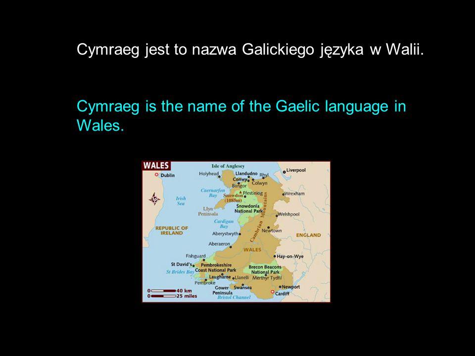 Cymraeg jest to nazwa Galickiego języka w Walii.