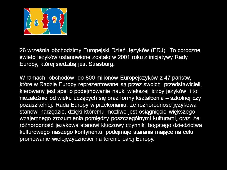 26 września obchodzimy Europejski Dzień Języków (EDJ)
