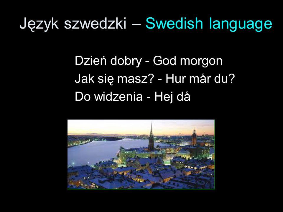 Język szwedzki – Swedish language