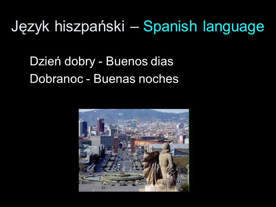 Język hiszpański – Spanish language