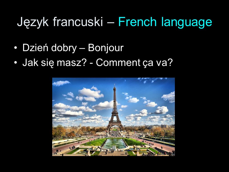 Język francuski – French language