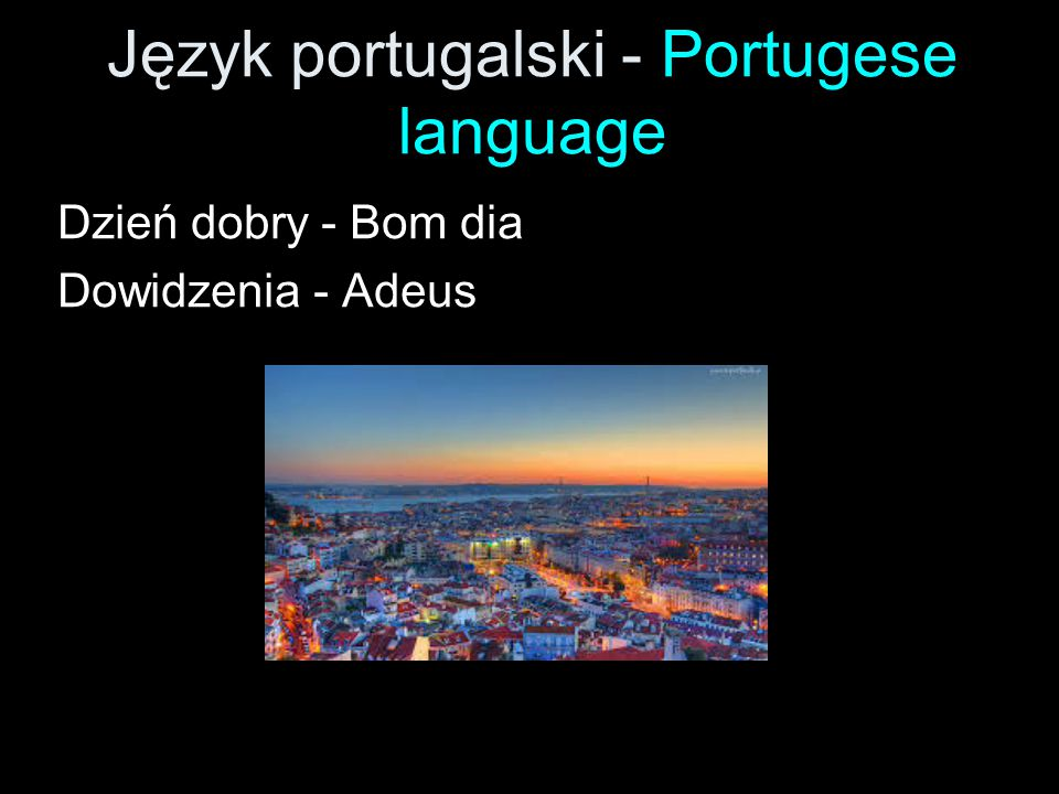 Język portugalski - Portugese language