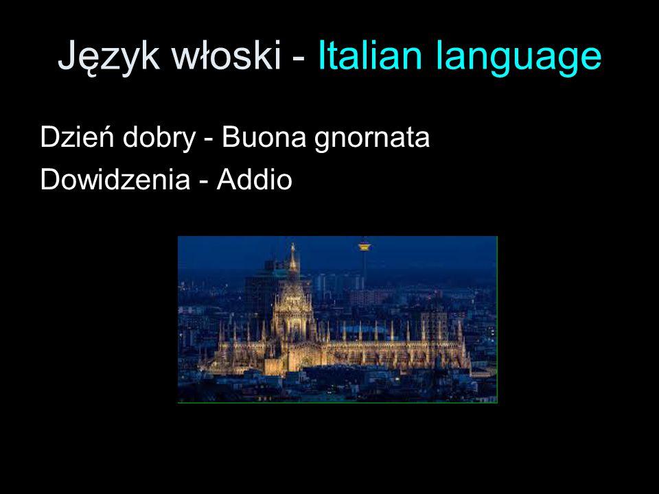 Język włoski - Italian language
