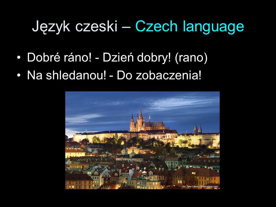 Język czeski – Czech language