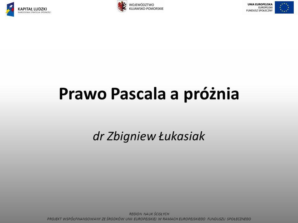Prawo Pascala a próżnia