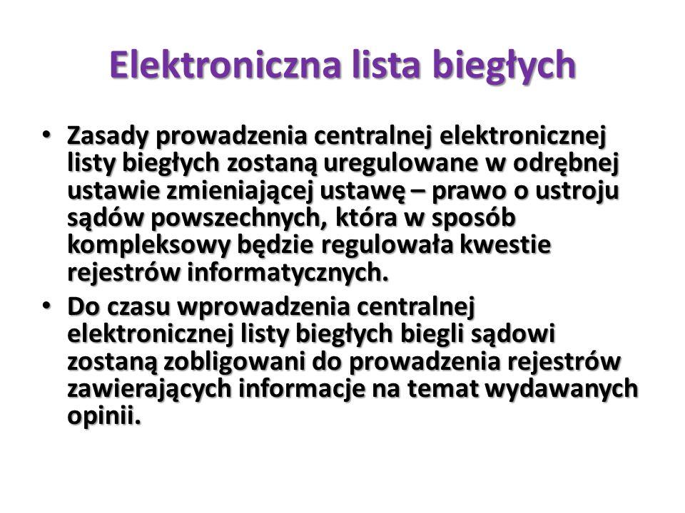 Elektroniczna lista biegłych
