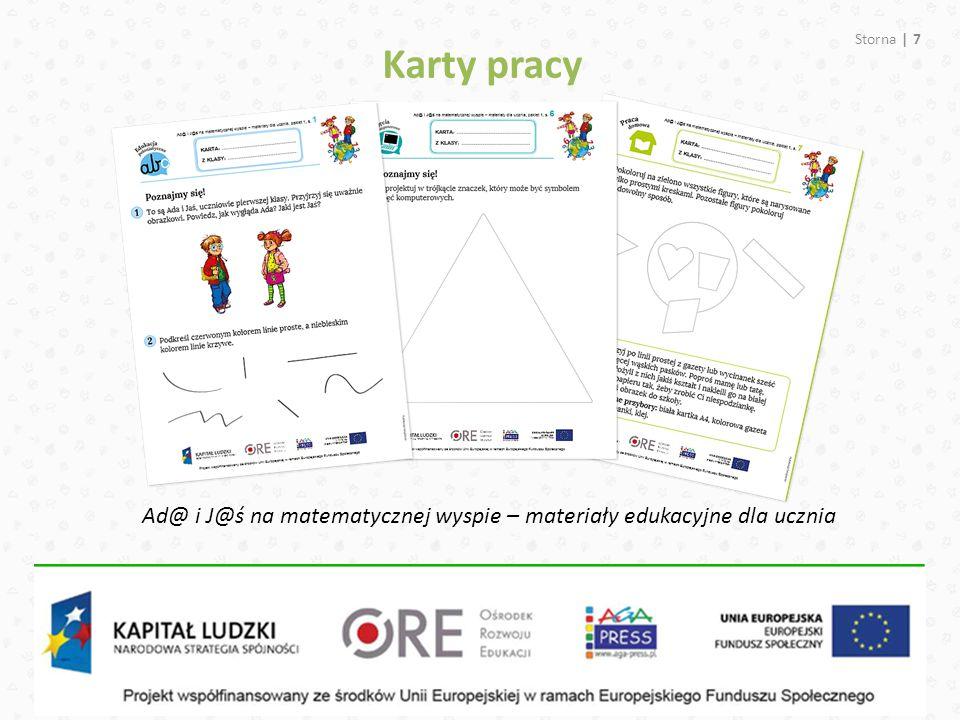Karty pracy Ad@ i J@ś na matematycznej wyspie – materiały edukacyjne dla ucznia