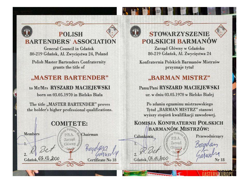 Ośrodek prowadzony jest przez Master - Bartendera , Ryszarda Maciejewskiego.