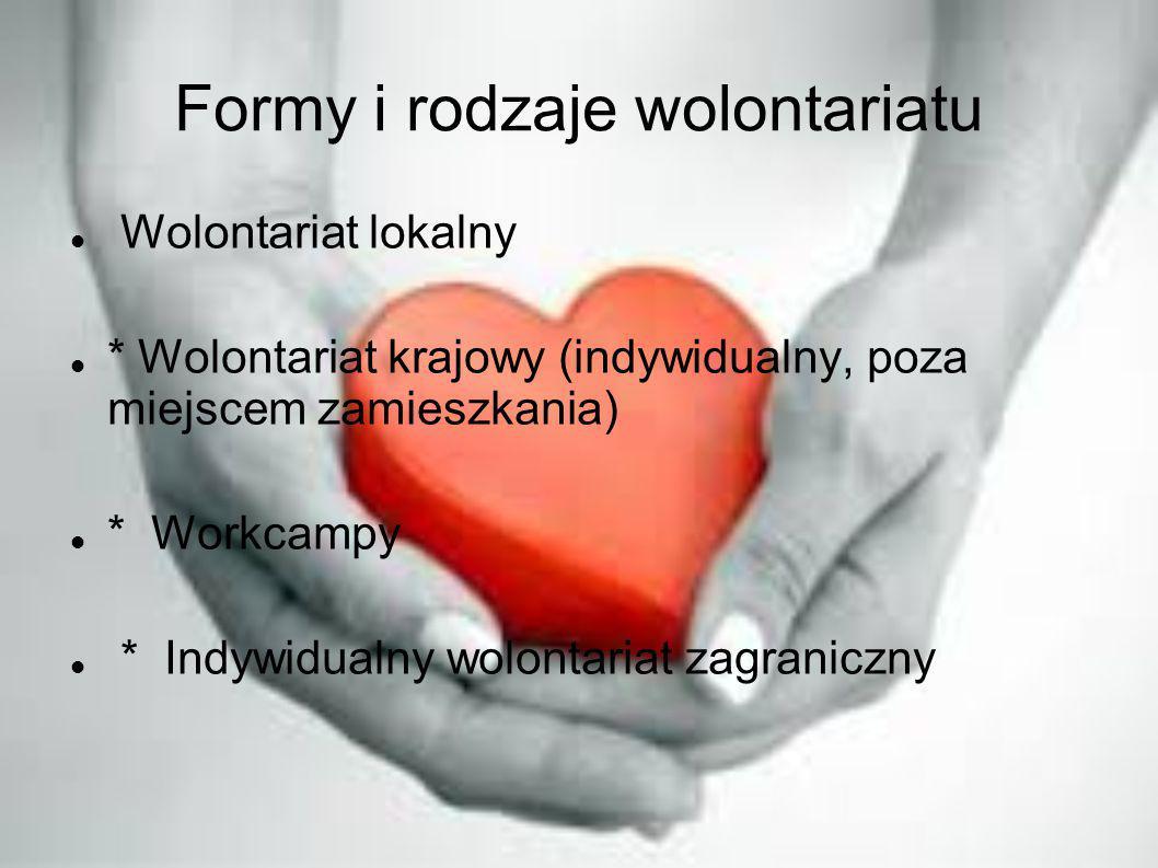 Formy i rodzaje wolontariatu