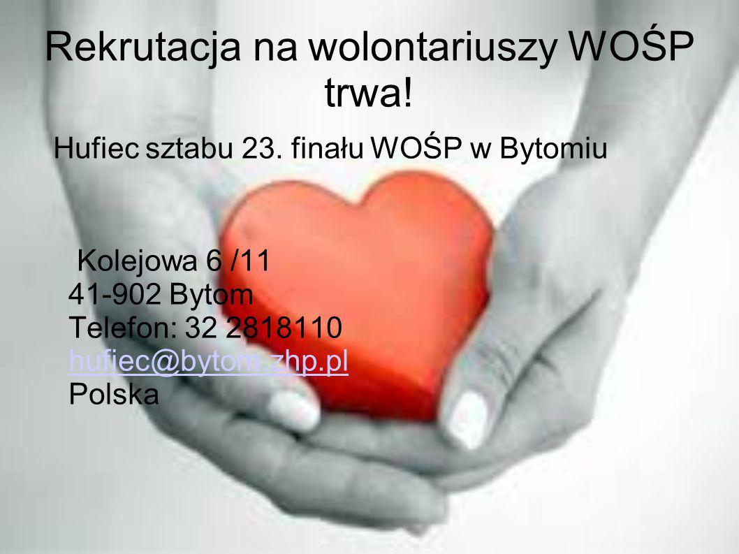Rekrutacja na wolontariuszy WOŚP trwa!