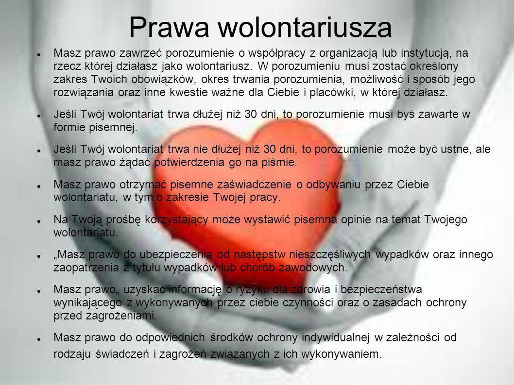 Prawa wolontariusza