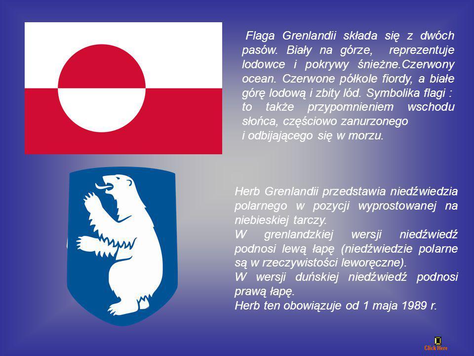 Flaga Grenlandii składa się z dwóch pasów