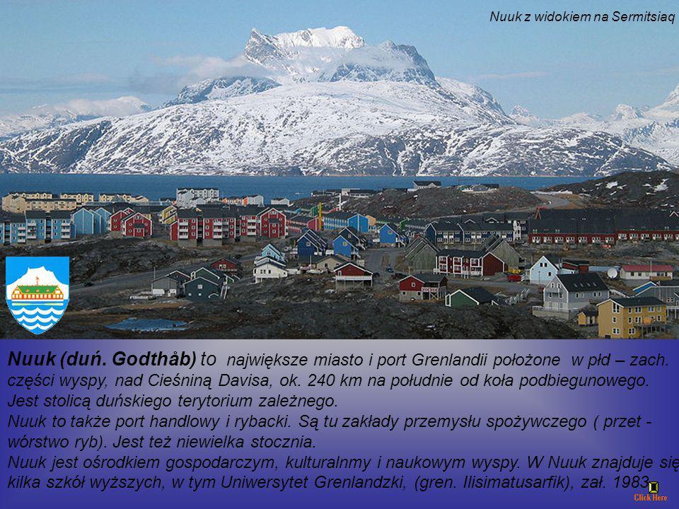Nuuk z widokiem na Sermitsiaq