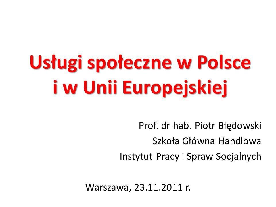 Usługi społeczne w Polsce i w Unii Europejskiej