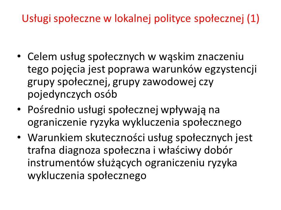 Usługi społeczne w lokalnej polityce społecznej (1)