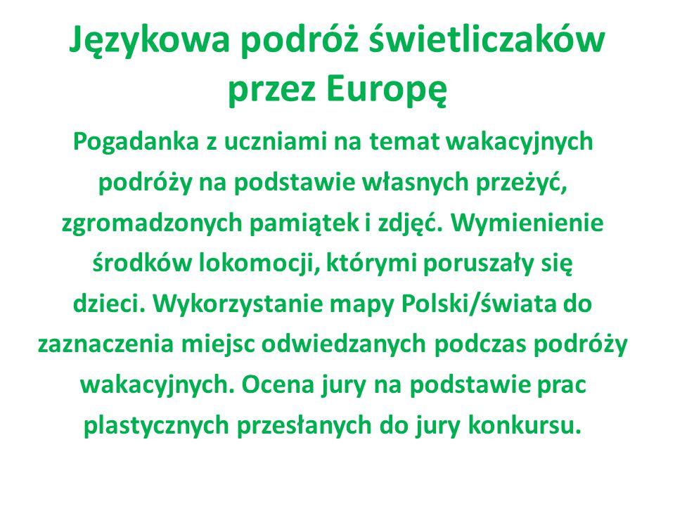 Językowa podróż świetliczaków przez Europę
