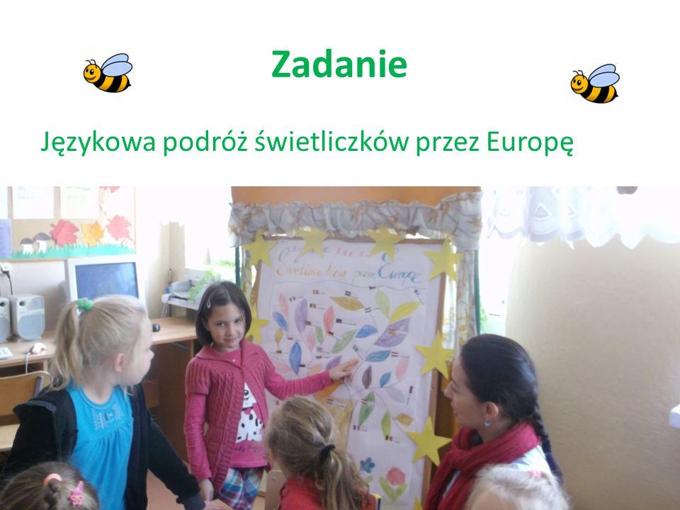 Zadanie Językowa podróż świetliczków przez Europę
