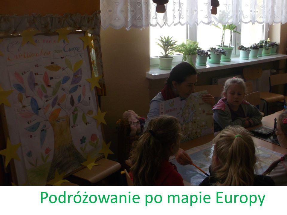 Podróżowanie po mapie Europy