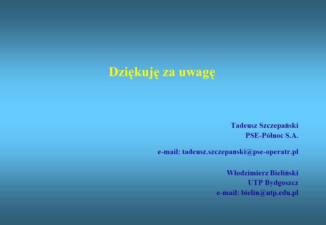 Dziękuję za uwagę Tadeusz Szczepański PSE-Północ S.A.